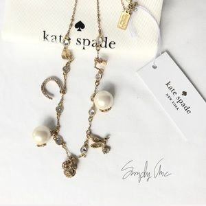 NWT Kate Spade Vintage charm gold tone necklace